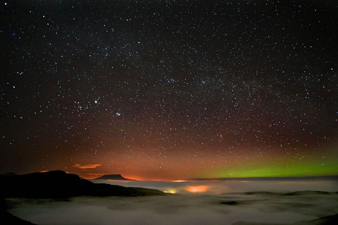 Lough Salt 1 Muckish with Aurora