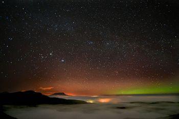 Lough Salt 1 Muckish with Aurora